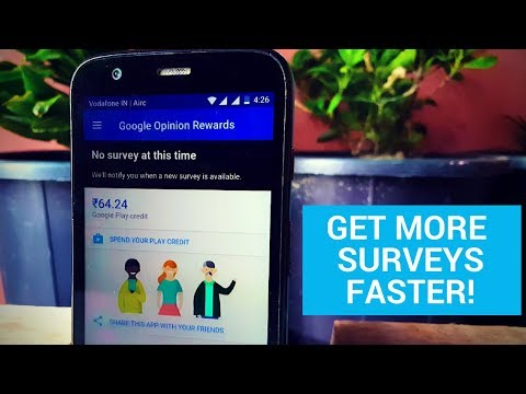 Google Opinion Rewards How to Get More Surveys