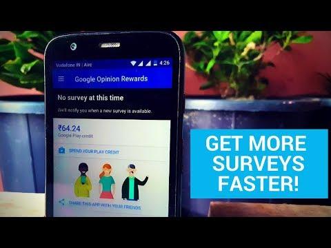 Google Opinion Rewards How to Get More Surveys