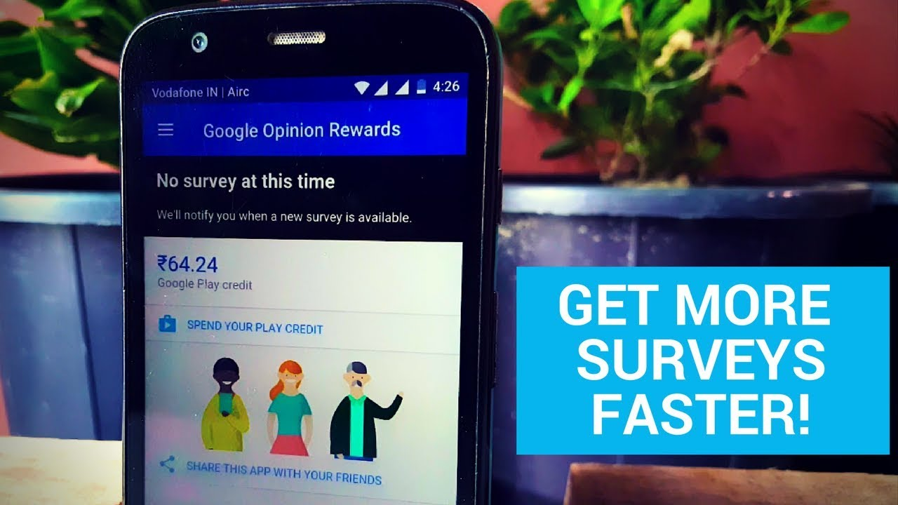 google opinion rewards more surveys google opinion rewards how to get more surveys youtube 5292