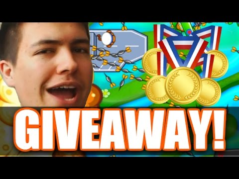'BEST GIVEAWAY EVER!' | Bloons TD Battles | Epic Matches & FREE MEDALLIONS!