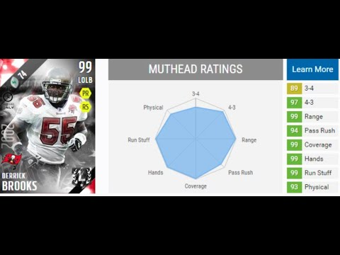 MY WIFE REVIEWS Ultimate Legend Derrick Brooks in MUT 16 | MUT 16 Reviews!