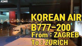 대한항공 비행영상 B777-200 크로아티아 자그레브 …