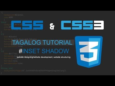 CSS & CSS3 Tagalog Tutorial - 7. Inset Box Shadow (Website Design) thumbnail