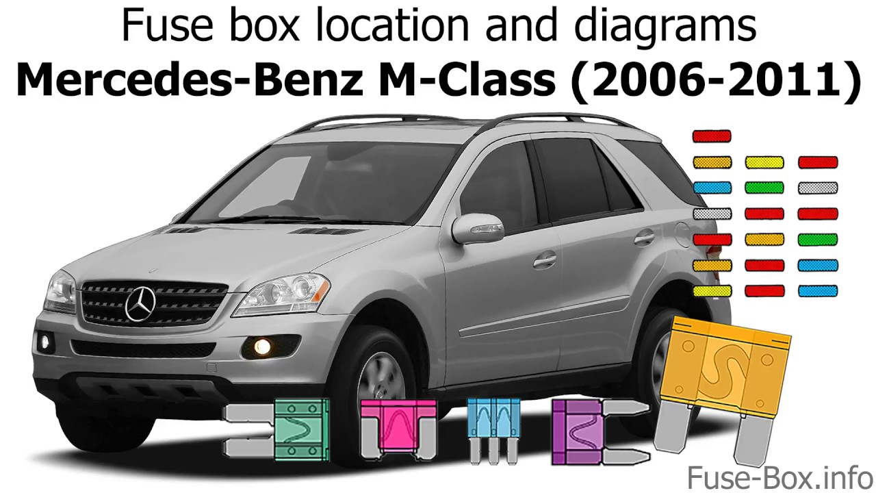 fuse box location and diagrams mercedes benz m class 2006 2011 2010 mercedes ml 550 fuse diagram [ 1280 x 720 Pixel ]