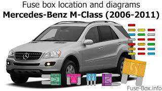 [ZSVE_7041]  Fuse box location and diagrams: Mercedes-Benz M-Class (2006-2011) - YouTube | 2007 Ml350 Engine Diagram |  | YouTube