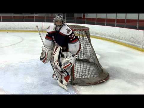 Ice Hockey Drill - Push, Stop, Recovery Goalie Drill