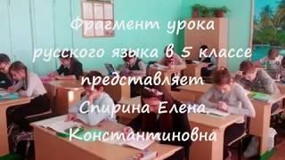 Спирина Елена Константиновна. Фрагмент урока на конкурс