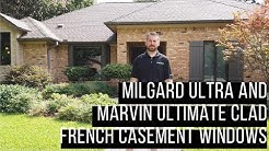 Milgard Ultra & Marvin French Casement Windows