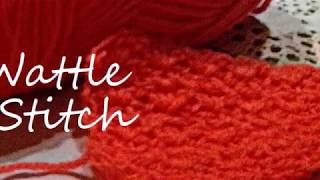 Crochet: the WATTLE STITCH How to crochet the wattle stitch/SUBTITLES