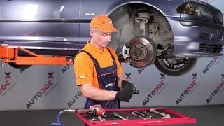 Substituição Bieleta de barra estabilizadora BMW 3 SERIES: manual técnico