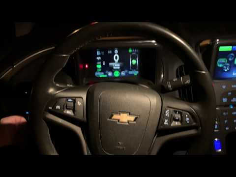 Chevrolet Volt: Как сменить мили на километры и язык?