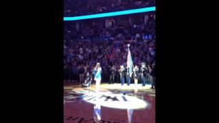 Carrigan Bradley singing National Anthem at OKC Thunder game 2/23/14