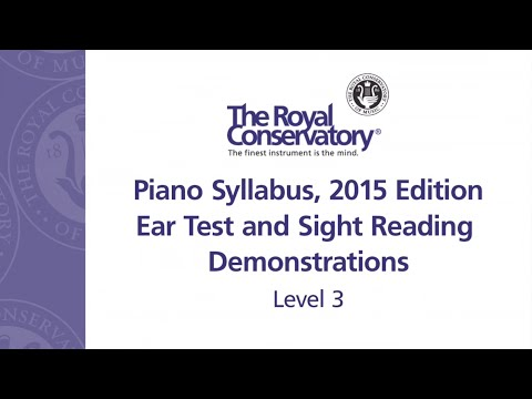 Ear Training and Sight Reading Requirements: Level 3