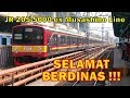 SELAMAT BERDINAS !!! TEST RUN JR 205-5000 VVVF-IGBT ex MUSASHINO LINE Manggarai - Depok PP