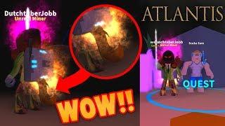 J'AI LA RUE DU FEU ! VISITEZ ATLANTIS! (Simulateur minier Roblox)