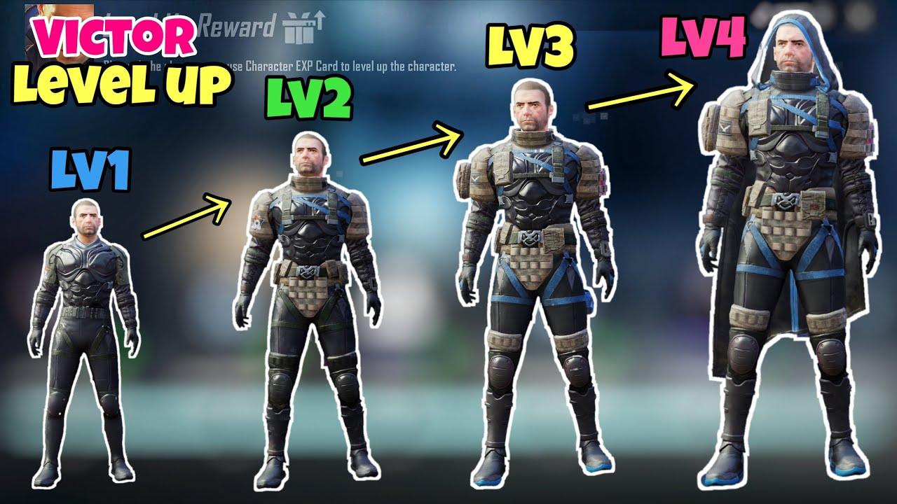 Upgrade Character - Victor Full Level 4 | Get Legendary Conquest by Tony Sama | Pubg Mobile