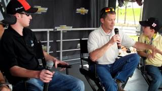 Interview with Ron Hornaday, Ward Burton and Sons at The Team Chevy Racing Display Daytona 2012