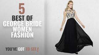 George Bride Women Fashion [2018 Best Sellers]: GEORGE BRIDE 2017 New Elegant Black Evening Dress