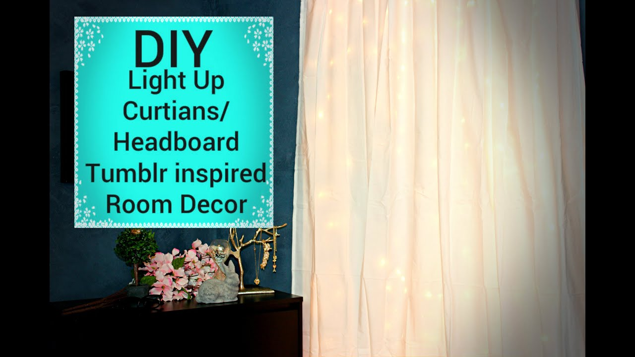 Diy light up curtains headboard affordable tumblr for How to light up a room