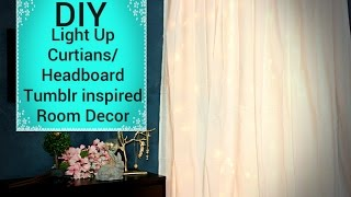 Diy Light Up Curtains/headboard - Affordable Tumblr Inspired Room Decor