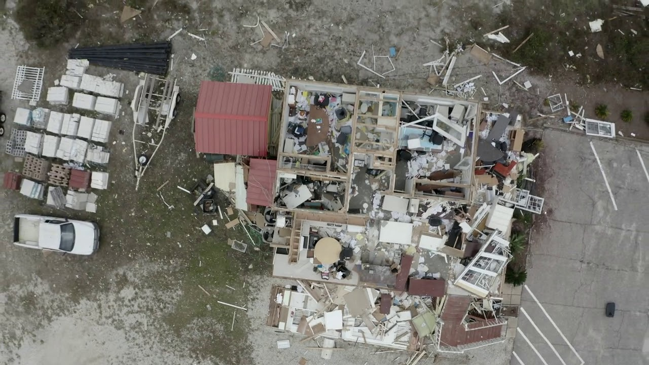 Hurricane Sally damage survey in Perdido Key, FL, one of the hardest hit areas