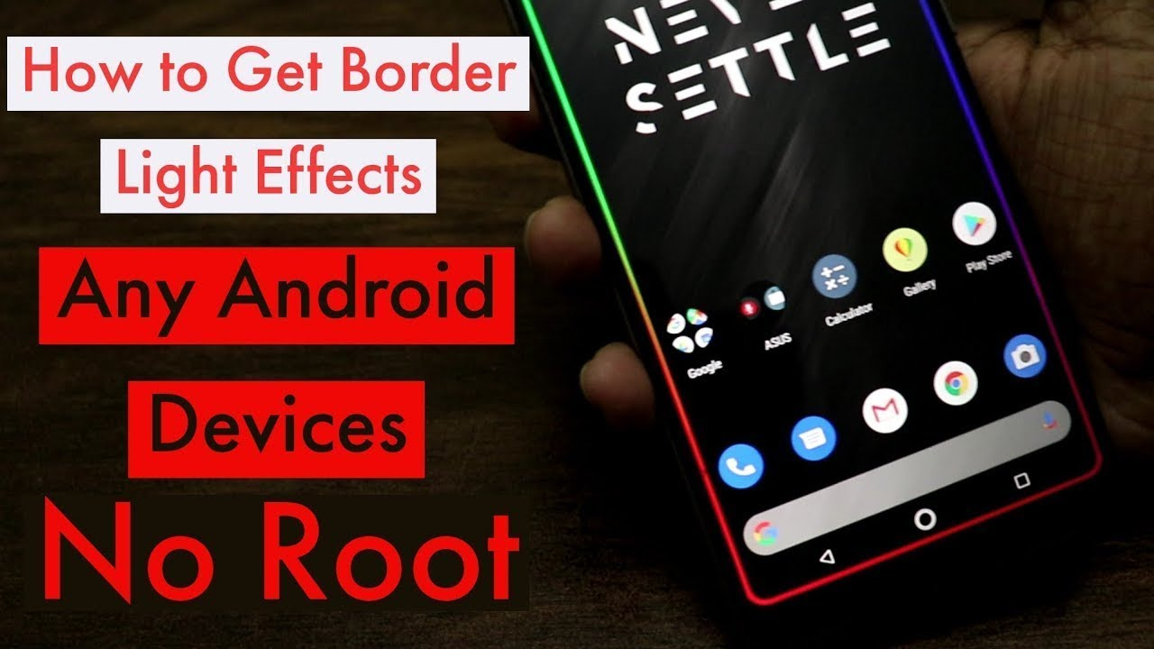 How To Set Border Light On Any Android|Gamming Display
