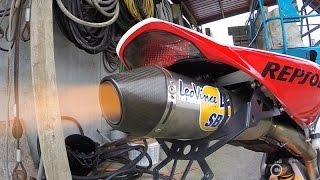 Honda CBR 1000 RR Nicky Hayden Replica Brutal Flame Spitting Leovince Titanium Full Exhaust System