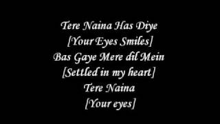 Tere Naina Lyrics With English Translation - Chandni Chowk To China *HQ*