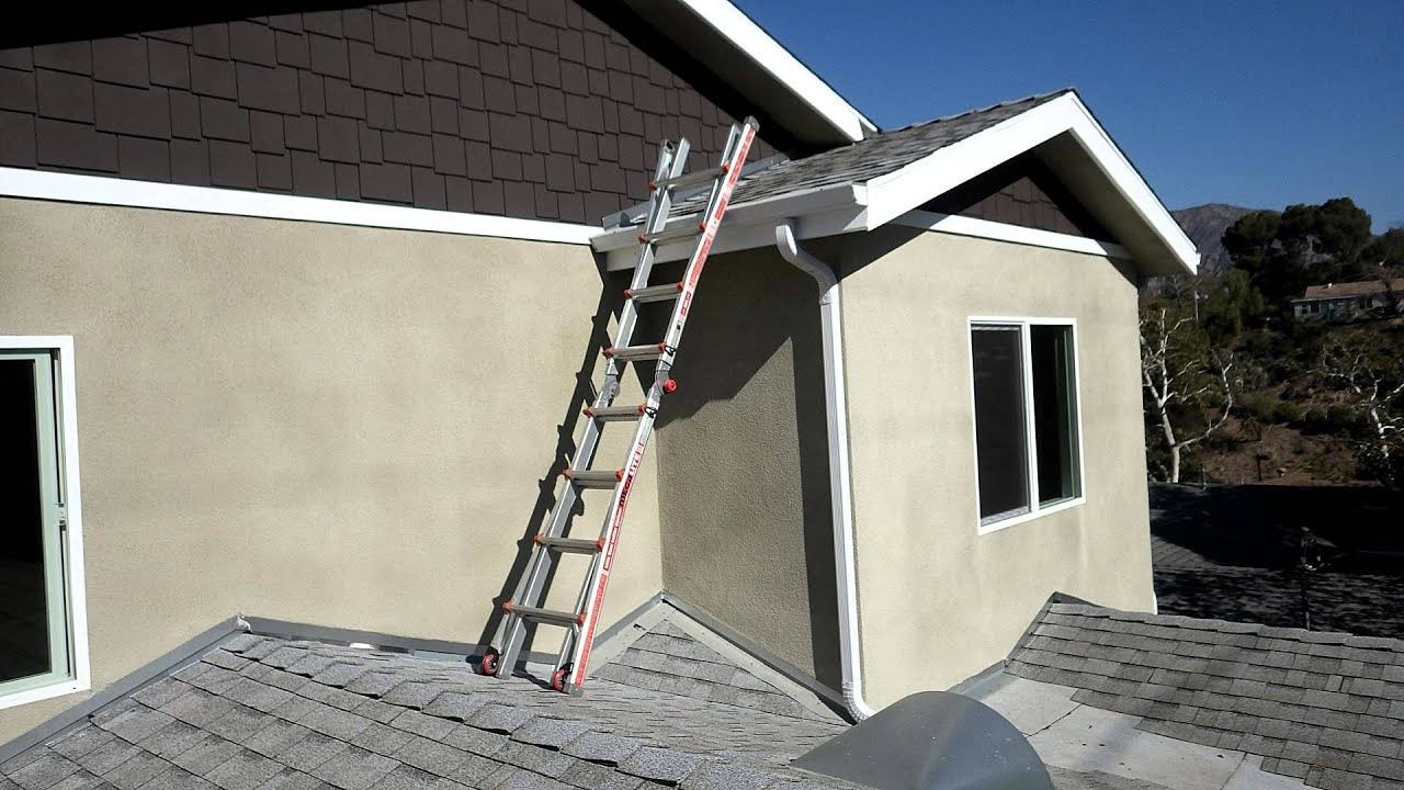 Climbing A 2nd Story Roof Youtube