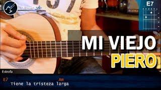 """Cómo tocar """"Viejo Mi Querido Viejo"""" de Piero en Guitarra Acústica (HD) Tutorial - Christianvib"""