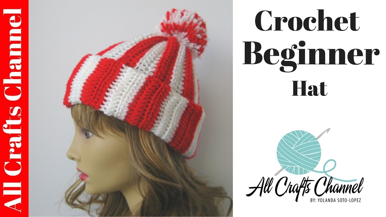 How to crochet Easy Beginner Hat - YouTube