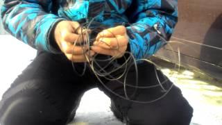 ШАГ 1 Как добыть проволоку чтоб сделать уловистые петли для зайца, барсука , лицы, бобра я