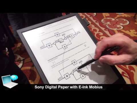 Sony Digital Paper DPT-S1 with E-Ink Mobius
