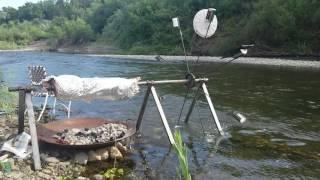 whole pig water wheel spit roast russian river healdsburg california