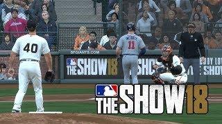 MLB The Show 18 Gameplay San Francisco Giants vs Atlanta Braves at AT&T Park  – MLB 18 The Show
