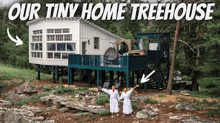 OUR TINY HOME TREEHOUSE GETAWAY (full tour)