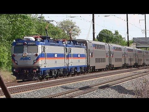 Amtrak & MARC Trains Through Harmans, Maryland