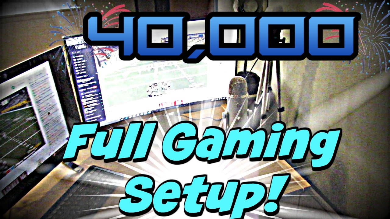 Full Gaming Setup Tour! 40k Subscriber special! Thank you guys???? @Jmellflo