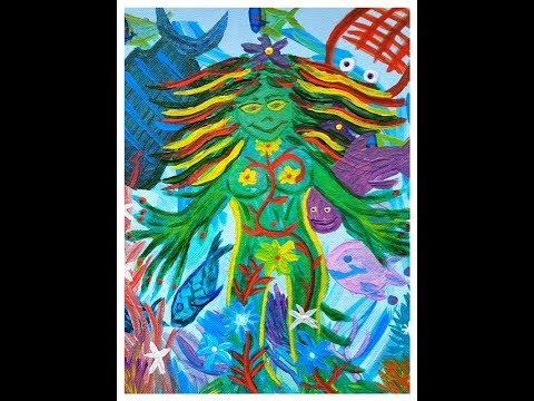 アビーのカスタムスピリチュアルペインティング Manifesting True Happiness Abbey's Custom Spiritual Painting for Ms. Fumi