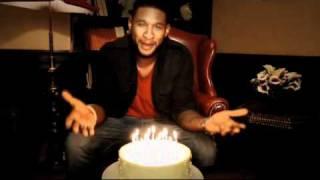 Usher singing Happy Birthday