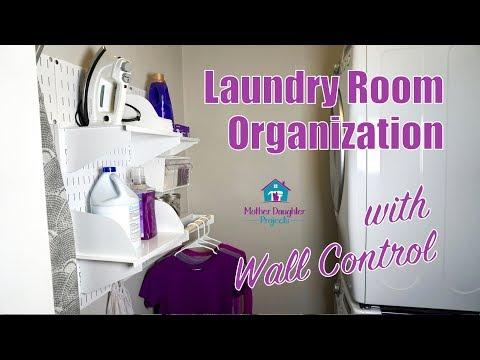 Laundry Room Organization // Wall Control Metal Pegboard