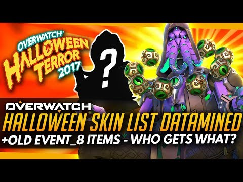 Overwatch   Halloween Skins DATAMINED - Event_8 (Who Could Get What?)