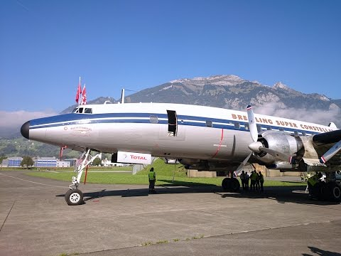 Super Constellation flight Basel-Alpnach-Basel