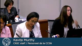 CNSC staff presented a progress update on CNL's prototype waste facilities