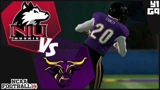 NCAA Football 14 Minnesota State Mavericks Dynasty- Year 1 Game 9 vs Nothern Illinois Huskies