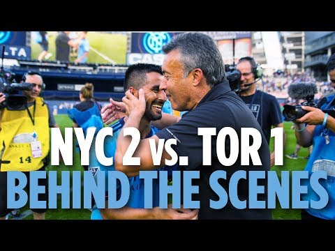 Domenec Torrent's First Game | BEHIND THE SCENES | NYCFC 2 vs. Toronto 1 | 06.24.18