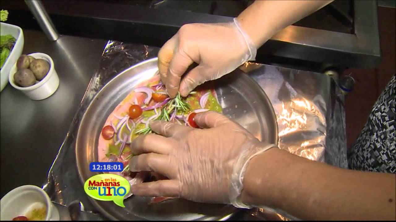 trucha al horno-receta peruana