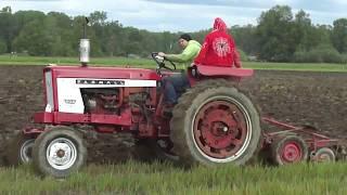 Farmall 504 and Massey Ferguson 135 Plowing