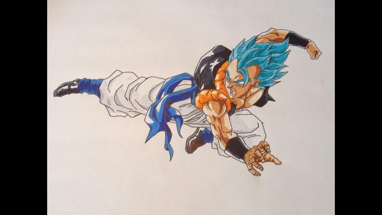 Speed Drawing Gogeta Super Saiyan Blue Dessin De Gogeta En Super Saiyen Blue Youtube