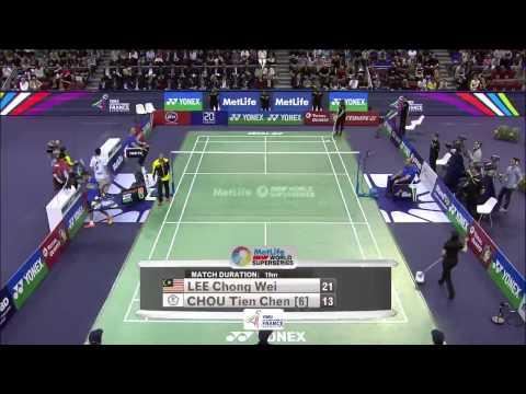Yonex French Open 2015 | Badminton F M2-MS | Lee Chong Wei vs Chou Tien Chen